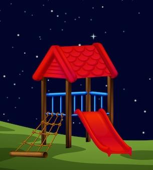 Una escena de la naturaleza en la noche.