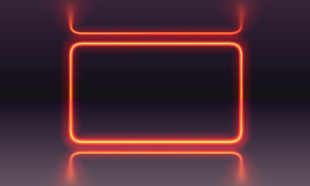 Escena de neón, espectáculo de láser en el fondo nocturno. ilustración vectorial