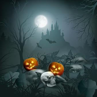 Escena de la noche de halloween