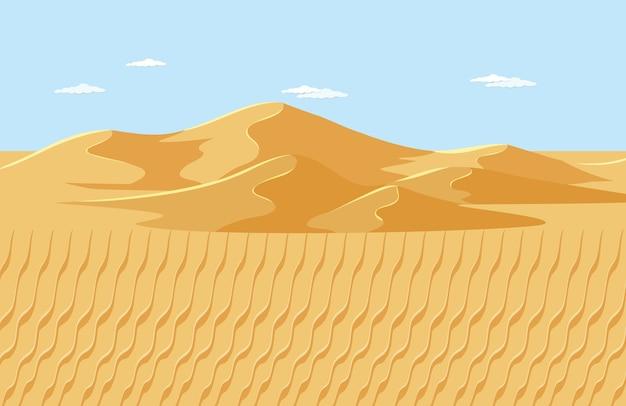 Escena de paisaje desértico en blanco
