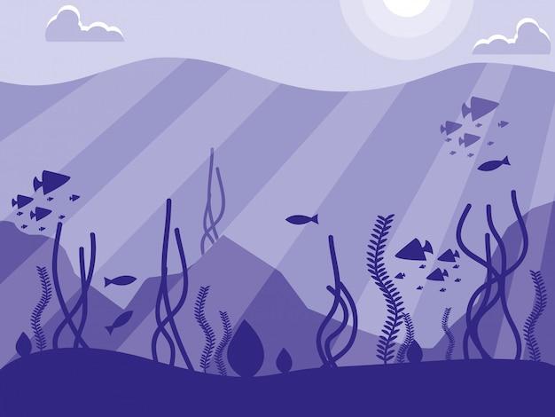 Escena del paisaje marino tropical