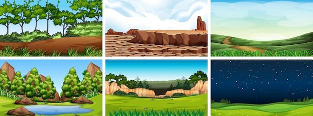 Escena del paisaje natural del entorno