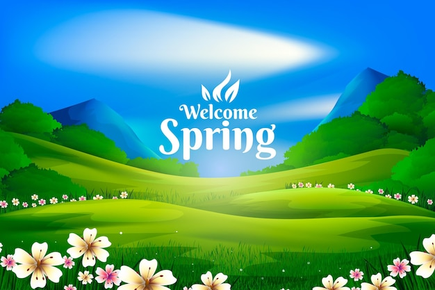 Escena de paisaje de primavera