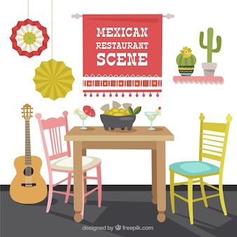 Escena de restaurante mexicano