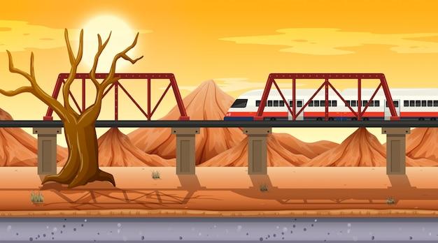 Escena temática del desierto occidental en la naturaleza