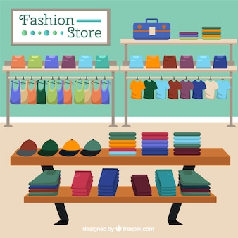 Escena de tienda de moda