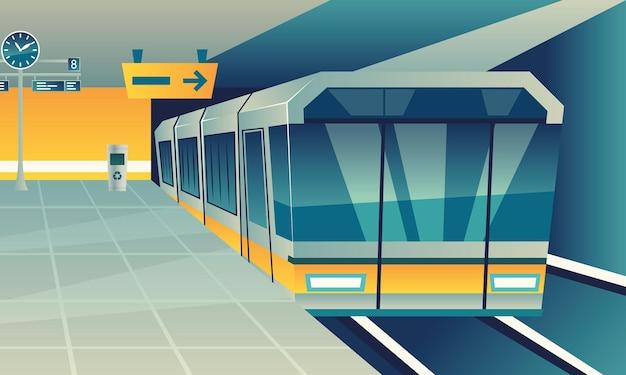 Escena del transporte del metro