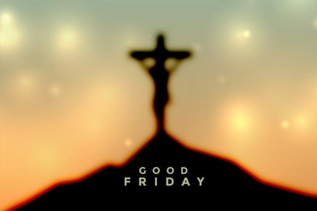 Escena del viernes santo de pascua con la crucifixión de jesucristo