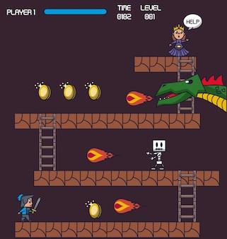 Escenario del juego pixelado