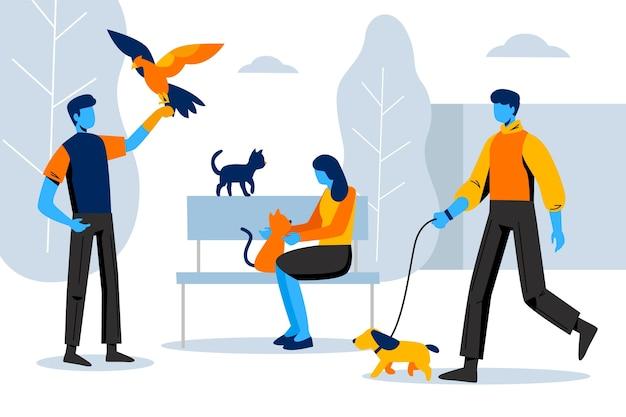Escenas cotidianas con lindas mascotas