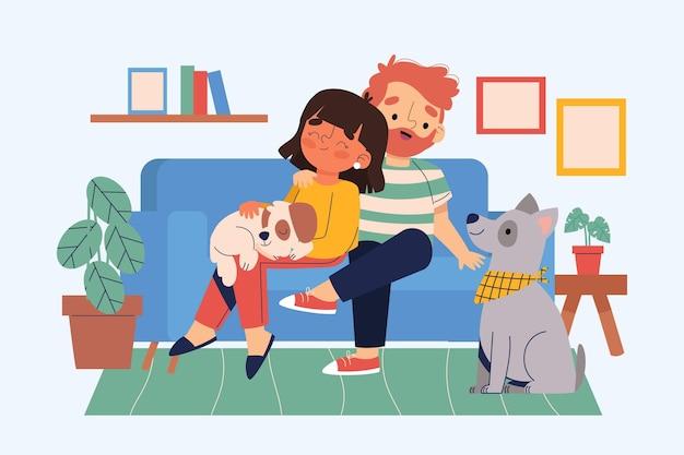 Escenas cotidianas con mascotas