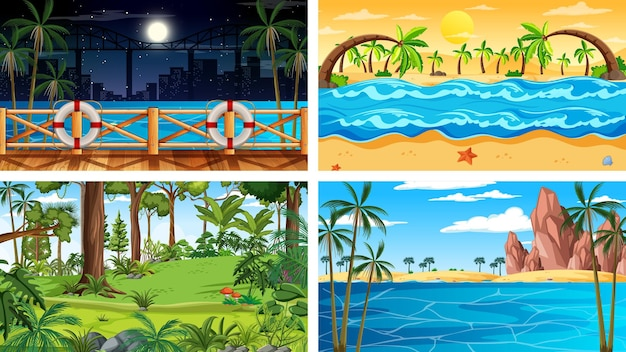 Escenas horizontales de diferente naturaleza.