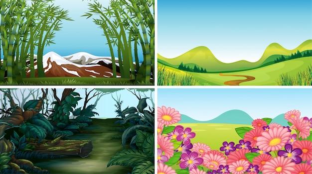 Escenas de la naturaleza del paisaje