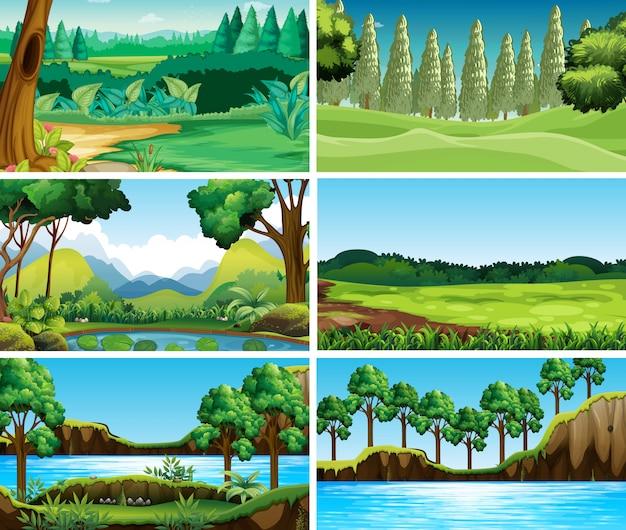 Escenas vacías, en blanco, paisajes de naturaleza