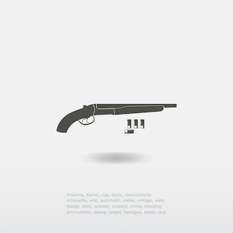 Escopeta con ilustración de balas