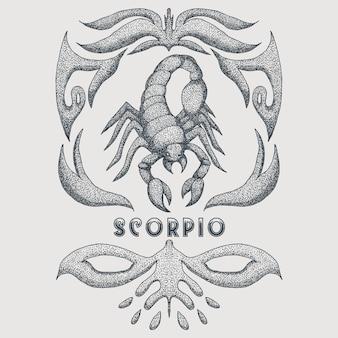 Escorpio zodiaco de la vendimia