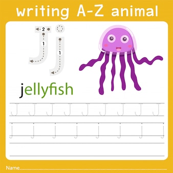 Escribiendo az animal j