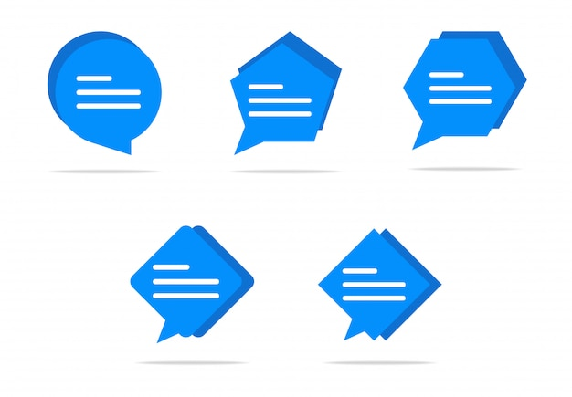 Escribiendo en un icono de burbuja de chat