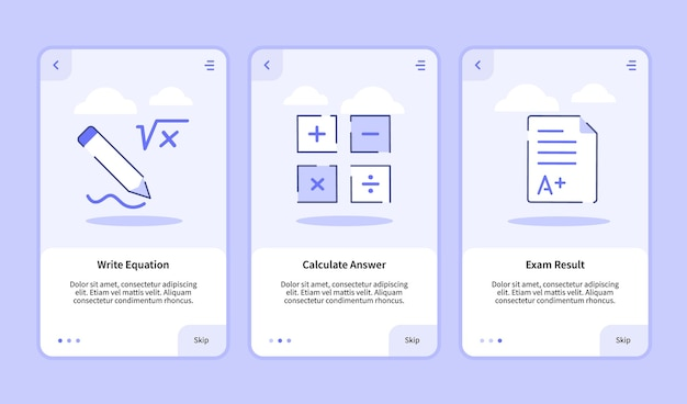 Escribir ecuación calcular responder pantalla de incorporación de resultados del examen