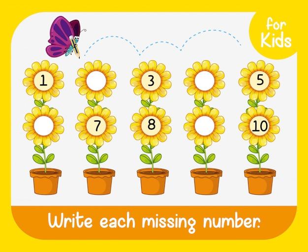 Escribir la hoja de trabajo del número