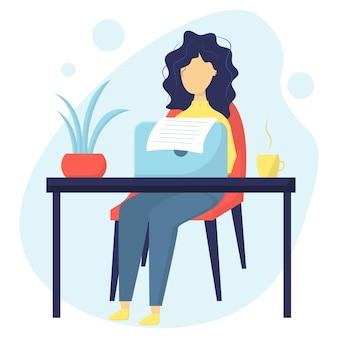 Escritor autor de contenido el concepto de crear artículos de blog