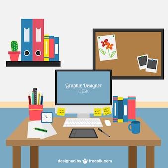 Escritorio de diseñador gráfico