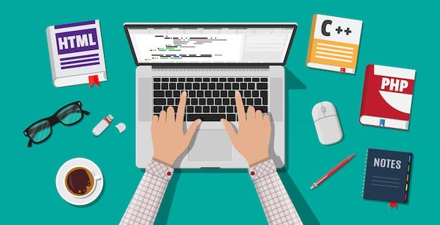 Escritorio de programador o codificador