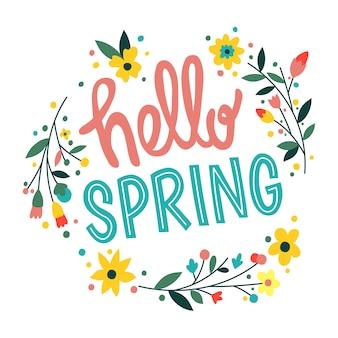 Escritura hola primavera