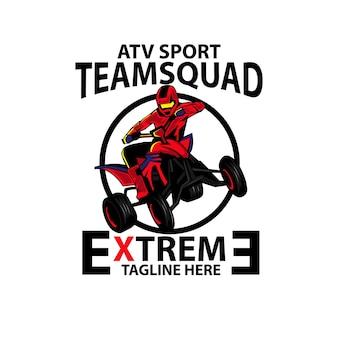 Escuadrón de atv, un deporte de logo de ilustración