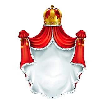 Escudo de armas medieval, emblema heráldico.