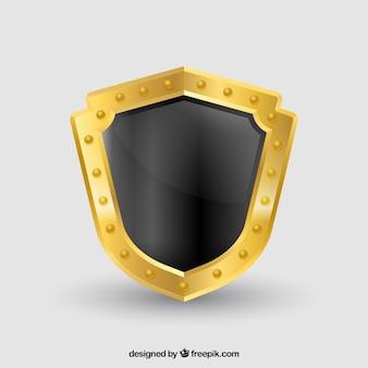 Escudo con borde dorado