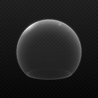Escudo burbuja sobre fondo transparente