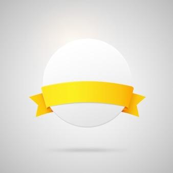 Escudo circular con cinta amarilla