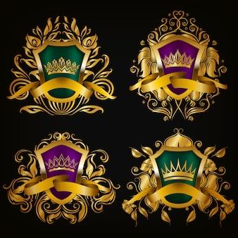 Escudo con conjunto corona