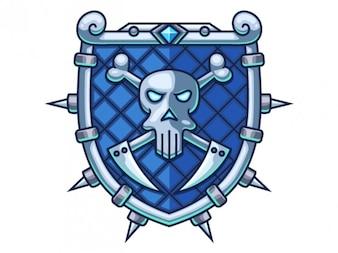 Escudo de guerra azul