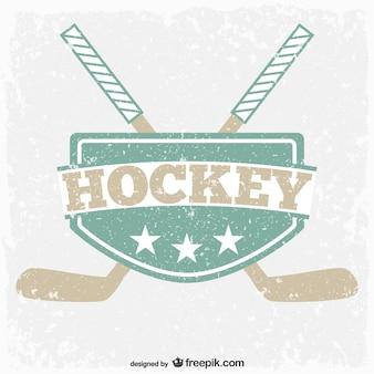 Escudo de hockey vintage