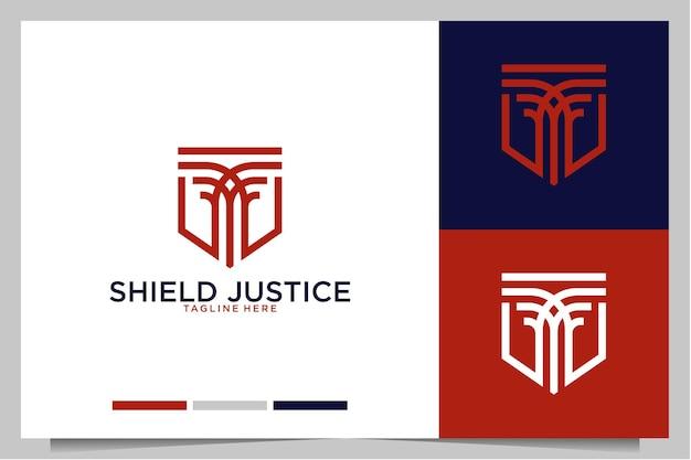 Escudo de justicia diseño de logotipo moderno