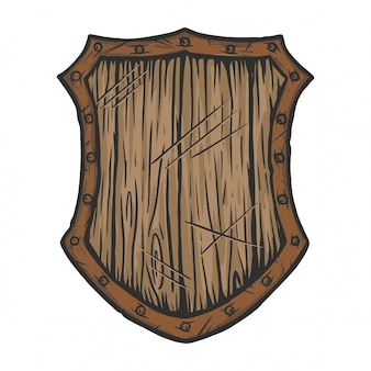 Escudo de madera viejo