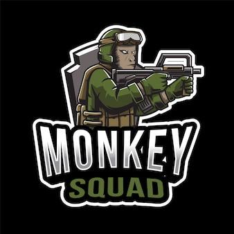 Escudo de mono logo de esport