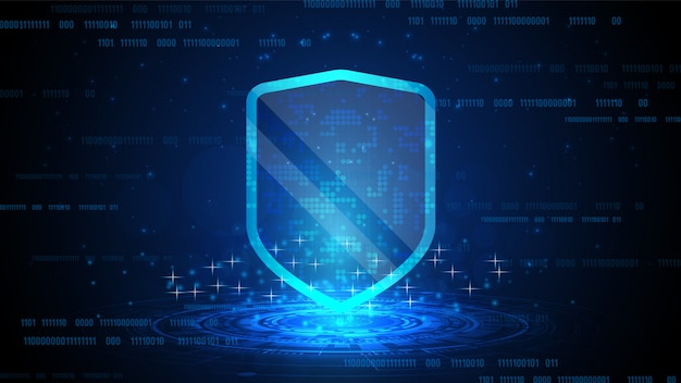 Escudo de protección de datos en línea y resumen con tecnología informática