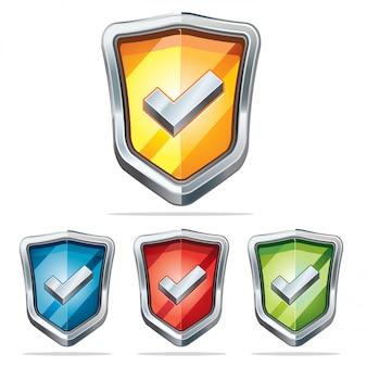 Escudo de protección de iconos de seguridad.