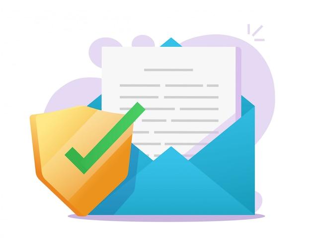 Escudo seguro de documento de correo electrónico