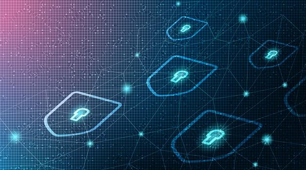 Escudo de tecnología digital de seguridad