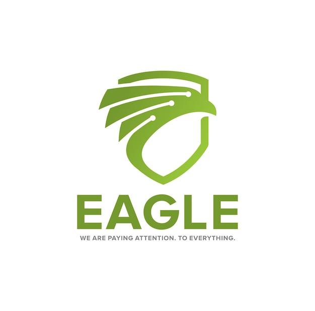 Escudo de tecnología de inspiración del logotipo de eagel