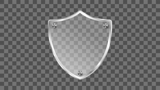 Escudo de vidrio en gris