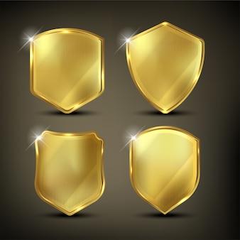 Escudos de color dorado