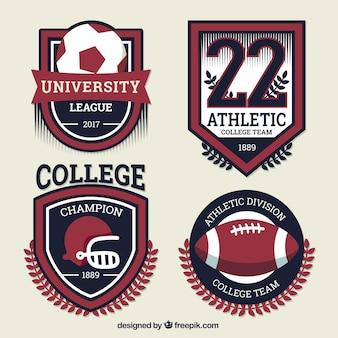 Escudos deportivos para los equipos universitarios