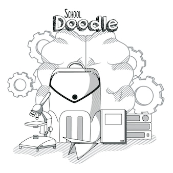 Escuela doddles dibujos animados