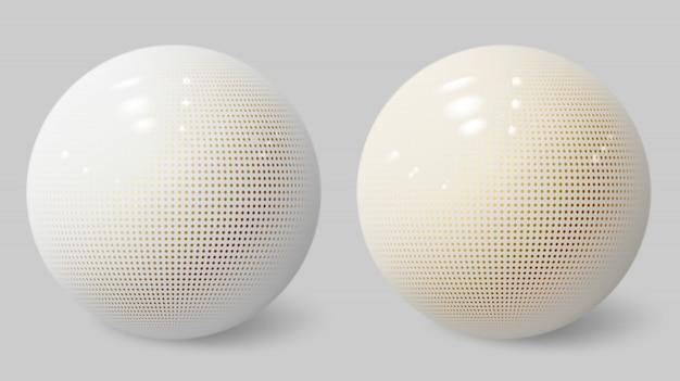 Esfera 3d realista. burbuja blanca pelota con textura.