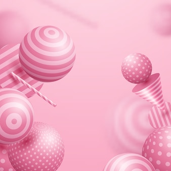 Esfera abstracta color rosa claro